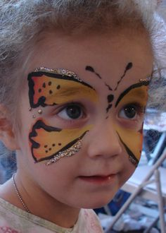 DIY Butterfly Face Paint #DIY #Butterflies #FacePainting #Birthdays #Birthday #Parties #Party