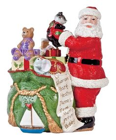 Take a look at this Santa & Toy Bag Musical Figurine by Fitz and Floyd on #zulily today!