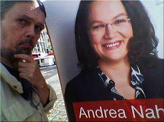 Ma(h)lt sich in diesem Kopf die Welt: SPD Nahles in Mannheim FANBOYS für Andrea