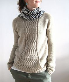 6eb3b49aa339c5 Miranda pullover by Josee Paquin. Pattern  6 on Ravelry. Kangaroo pocket.  Options for