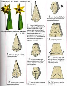 Origami Daffodil Diagram - Advanced