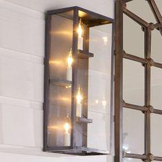 Modern Shelf Outdoor Light - Shades of Light Outdoor Wall Lantern, Outdoor Walls, Semi Flush Ceiling Lights, Wall Lights, Modern Lighting, Outdoor Lighting, Lighting Ideas, Exterior Lighting, Candle Sconces