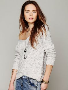 Free People Shaggy Knit Pullover  http://www.freepeople.com/whats-new/shaggy-knit-pullover/