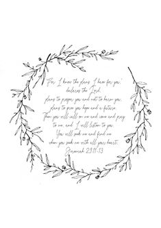 Scripture Printables // Jeremiah 29,11-13 // Made by Betynka Kachips // Free Download