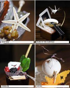 unreal cocktail garnishes: nightjar