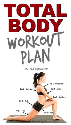 FREE Total Body Workout Plan that you can do at home from Tone-and-Tighten.com