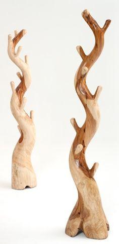 Natural Free Form Standing Coat Rack - 8 - 10 Hooks - Item # CR02313