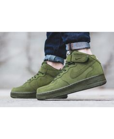 classic fit 43ca4 6cecf Womens Nike Air Force 1 Mid Legion Green Trainer Air Force 1 Mid, Nike Air