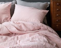READY TO SHIP Washed Blush Linen Soft King Size by MagnoliaAmor