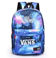 Vans Backpack School Bag Trend 2015 Galaxy Female Male Unisex Shoulder Book New #VANS #Bookbag