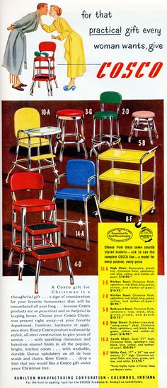 Vintage Cosco = my grandmother had the stool!