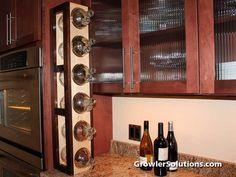 Growler Holder Bottle Storage Wall Rack Holds 6 Jugs of Beer Brewery Merchandise Growler Display Homebrewer Gift Tower Rack
