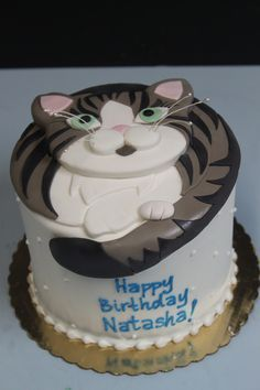 Inspired Image of Cat Cakes For Birthdays . Cat Cakes For Birthdays Cat Birthday Cake Amazing Cat Cakes Decoration Ideas Best Cake Ideas Birthday Cake For Cat, Happy Birthday Cakes, Fondant Cakes, Cupcake Cakes, Fete Emma, Cat Cupcakes, Pinterest Cake, Animal Cakes, Just Cakes