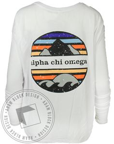 Alpha Chi Omega Mountain Long Sleeve by Adam Block Design   Custom Greek Apparel & Sorority Clothes   www.adamblockdesign.com