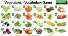 Vegetables in English - Vocabulary Game