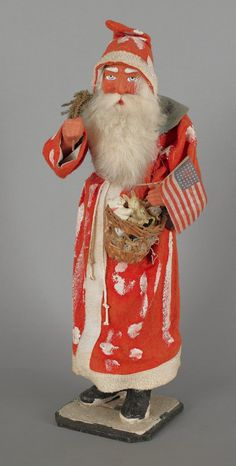 Composition Santa Claus candy container, early 2