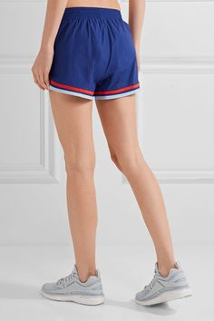 Tory Sport - Striped Shell Shorts - Storm blue
