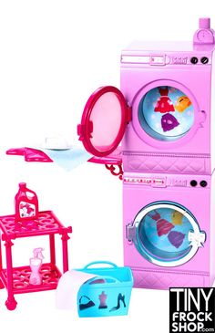 Hate doing laundry in the 1:1 world? You will love doing it in the 1:6 scale world with this fun set and is BRAND NEW IN BOX! When Barbie doll has laundry to do, this room will help her get it done! T