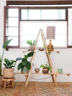 Grand Homes, Rattan Furniture, Wooden Shelves, Ladder Decor, Sweet Home, Bedroom, Boho Style, Nest, Range