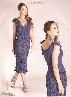 Crochet summer tank top dresses of pineapple stitch