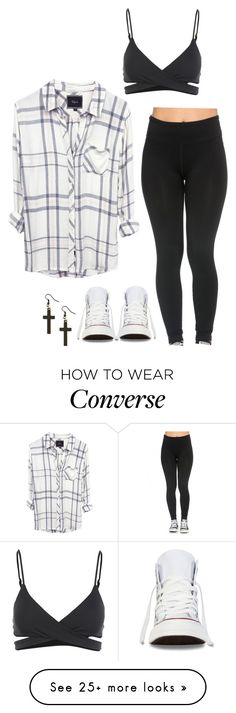 """""""Untitled #2091"""" by simplysavvy on Polyvore featuring L*Space and Converse"""