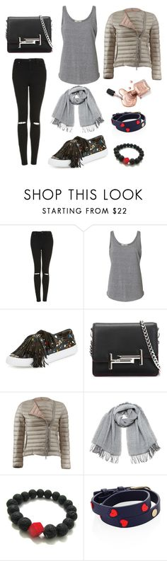 """""""Untitled #60"""" by martinastoeva ❤ liked on Polyvore featuring Topshop, Loeffler Randall, Tod's, Moncler, Vero Moda and Tory Burch"""