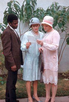 """Sidney Poitier visitando a su buen amigo Jack Lemmon durante el rodaje de """"Con faldas y a lo loco""""."""