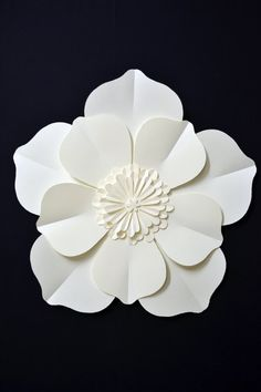 large paper flower for wedding decoration by comeuppance on Etsy