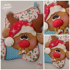 Bota navideña con reno