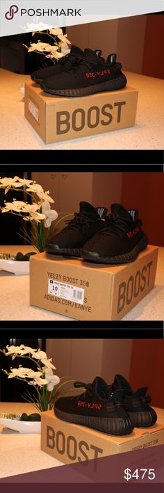 Adidas Yeezy Boost 350 V2 core black Yeezy boost 350 V2 Core black DEADSTOCK Brand new, Never worn  Comes in with a box and everything  Size 10 only one left  Shoot my an offer if interested Leave a comment for my number Yeezy Shoes Sneakers