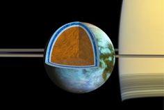 ASTRONOMIA HOJE: Oceano de lua de Saturno pode ser tão salgado quan...