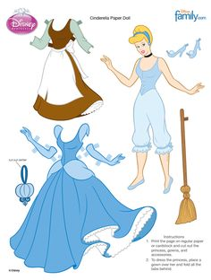 Cinderella Paper Doll, FREE download