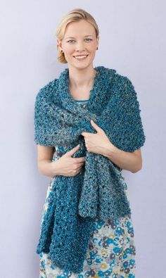 Shimmy Shawl - Free Crochet Pattern With Website Registration - (lionbrand)