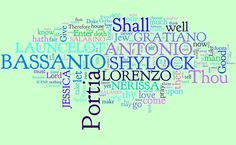 My Shakespeare Year: Day 30: The Merchant of Venice Word Cloud