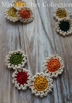 free pattern for crocheted mini doilies necklace & bracelet