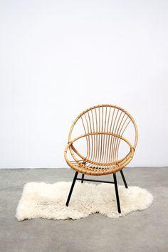 rotan relax stoel daybed vintage retro design roh dirk van sliedrecht 1920 2010. Black Bedroom Furniture Sets. Home Design Ideas