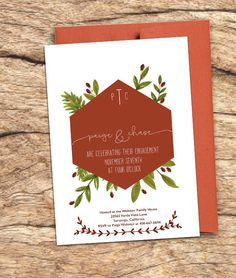Winter Engagement Party Invitation- Printable by TheScriptedSoiree on Etsy https://www.etsy.com/listing/258815761/winter-engagement-party-invitation