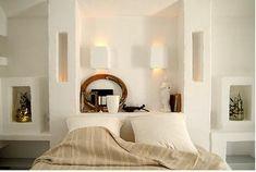 Dinky Luxe - White design interiors of boutique hotel Masseria Cimino Puglia in Italy Interior Flat, Interior And Exterior, Ideas Dormitorios, Shabby Chic, Bed Wall, Rustic White, Mediterranean Style, Interiores Design, Interior Inspiration