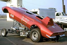 Marv Eldridge's chop-top Vette Funny Car