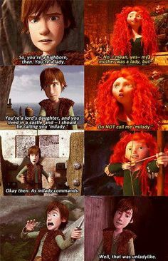 Arya and Gendry as played by Hiccup and Merida