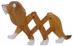 Wooden Lion Clothes Rack at theBIGzoo.com, a toy store featuring 3,000+ stuffed animals.