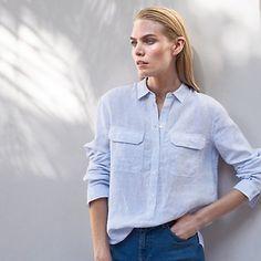Linen Pocket Shirt | Shirts & Blouses | Tops | Clothing | The White Company UK