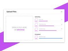 46 Best Upload UI images in 2014 | Ui design, Design, Web design