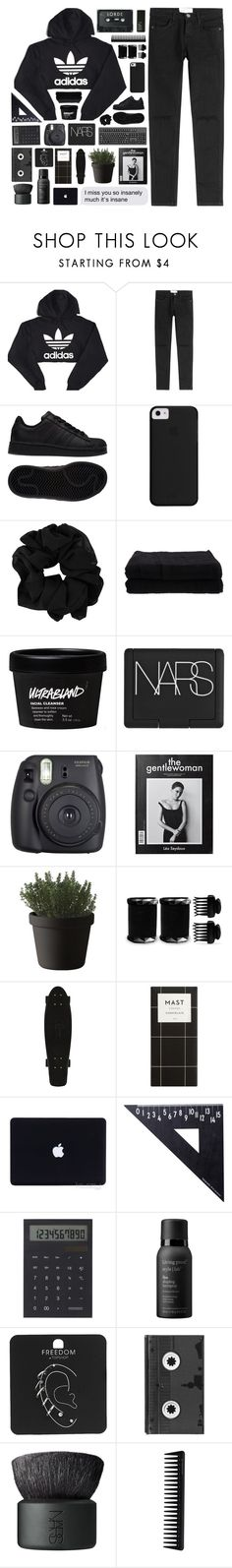 """#380"" by oh-my-rainbow ❤ liked on Polyvore featuring adidas, Current/Elliott, Home Source International, NARS Cosmetics, Fuji, Muuto, T3, Design Letters, IDEA International and Living Proof"