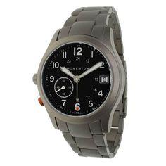 Pathfinder Watch III Titanium Bracelet, Black, quartz, w/ alarm $345