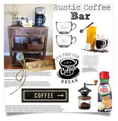 """""""Rustic Coffee Bar"""" by clotheshawg ❤ liked on Polyvore featuring interior, interiors, interior design, home, home decor, interior decorating, Spicher and Company and rustic"""