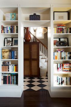 Built-in Shelves Make the Room - eclectic - Living Room - San Francisco - Margot Hartford Photography