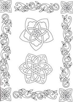 Irish Coloring Pages & Celtic Mandalas Irish Shamrock