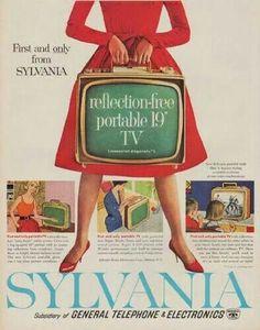 Vintage television Sylvania Ad