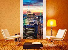 New York ako fototapeta na stenu Wall Murals, Stencil, Chair, Inspiration, Furniture, Home Decor, Wallpaper Murals, Biblical Inspiration, Decoration Home